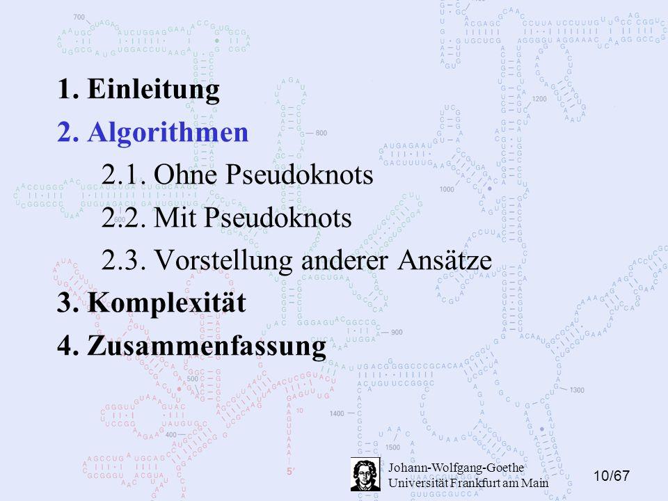 10/67 Johann-Wolfgang-Goethe Universität Frankfurt am Main 1.