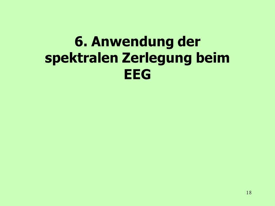 18 6. Anwendung der spektralen Zerlegung beim EEG