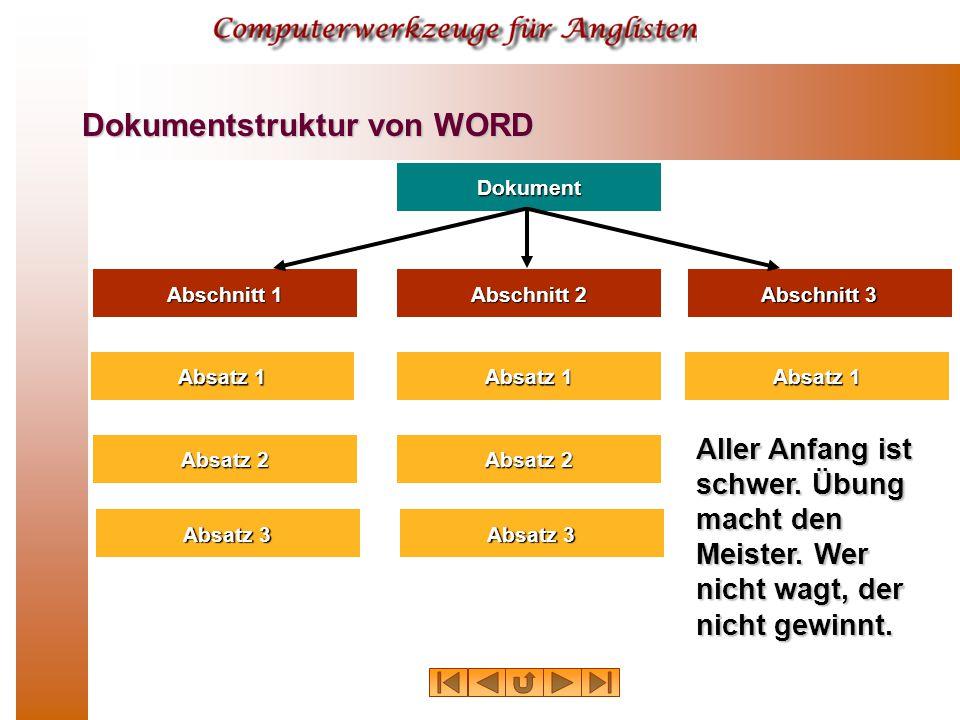 Dokument Absatz 1 Absatz 2 Absatz 3 Absatz 1 Absatz 2 Absatz 3 Absatz 1 Abschnitt 1 Abschnitt 2 Abschnitt 3 Aller Anfang ist schwer.