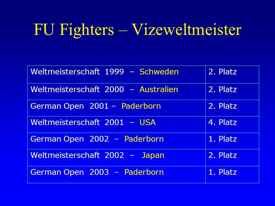 FU Fighters – Vizeweltmeister Weltmeisterschaft 1999 – Schweden2. Platz Weltmeisterschaft 2000 – Australien2. Platz German Open 2001 – Paderborn2. Pla