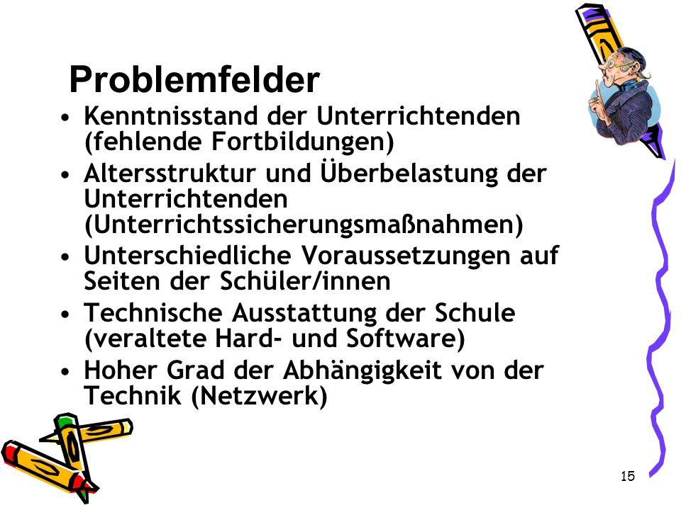 14 Netzwerk-Grafik Innenarchitektonisches und technisches Gesamtkonzept Nicht nur Kommunikation mit dem Computer Interaktives Arbeiten innerhalb der L