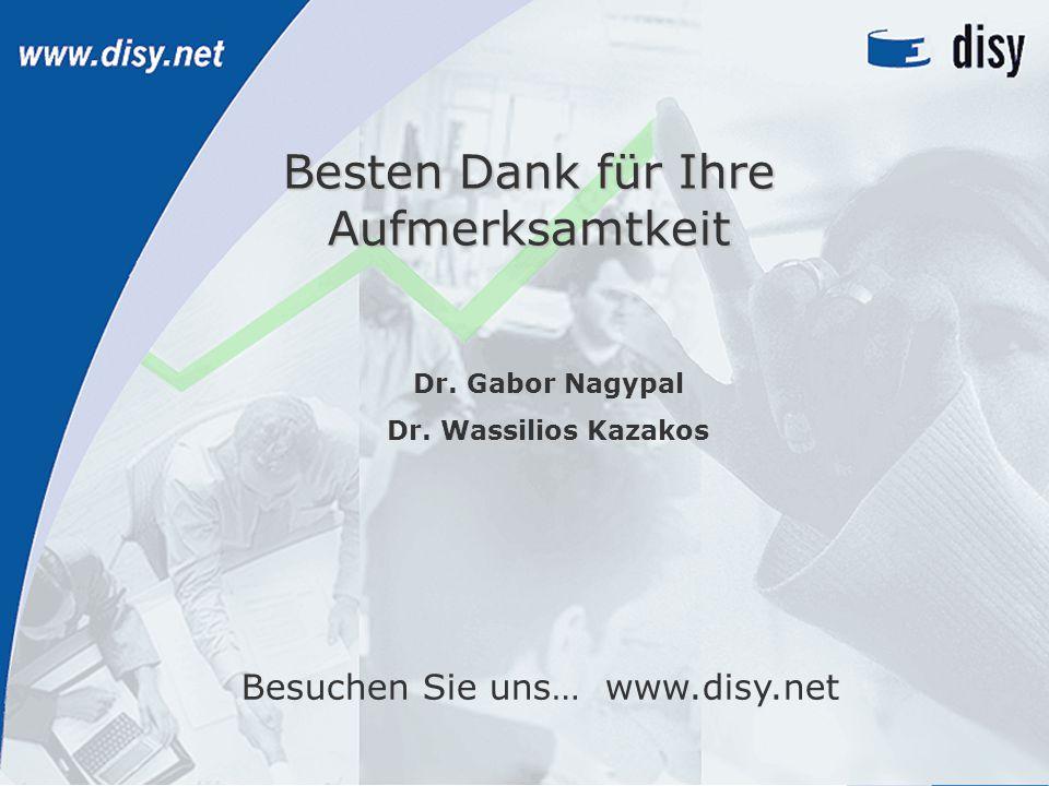 16 © disy Informationssysteme GmbH, www.disy.net, info@disy.net, +49 721 1600600 Besten Dank für Ihre Aufmerksamtkeit Besuchen Sie uns… www.disy.net Dr.