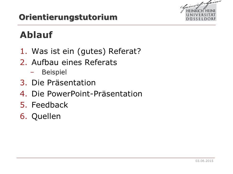Orientierungstutorium BA Sozialwissenschaften Richtig referieren!