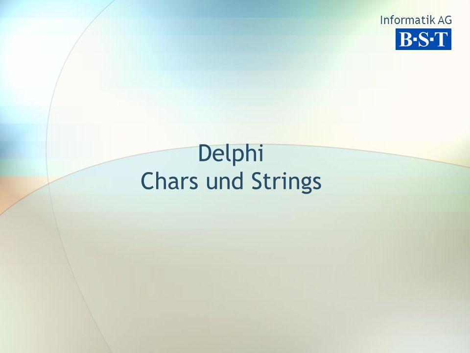 Delphi Chars und Strings Informatik AG