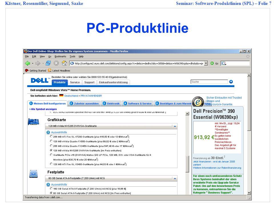 Kästner, Rosenmüller, Siegmund, SaakeSeminar: Software-Produktlinien (SPL) – Folie 18 Graph-Feature-Modell