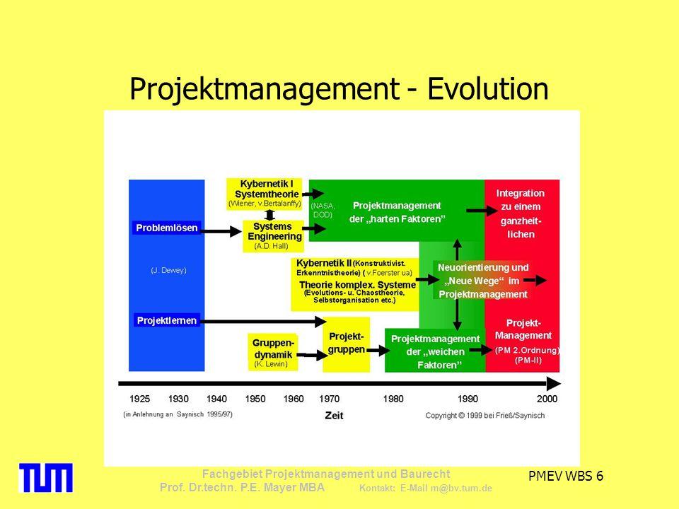 PMEV WBS 27 Fachgebiet Projektmanagement und Baurecht Prof.
