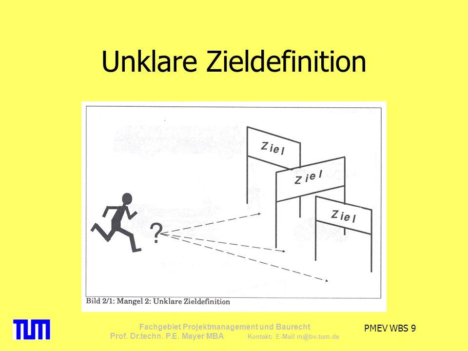 PMEV WBS 30 Fachgebiet Projektmanagement und Baurecht Prof.