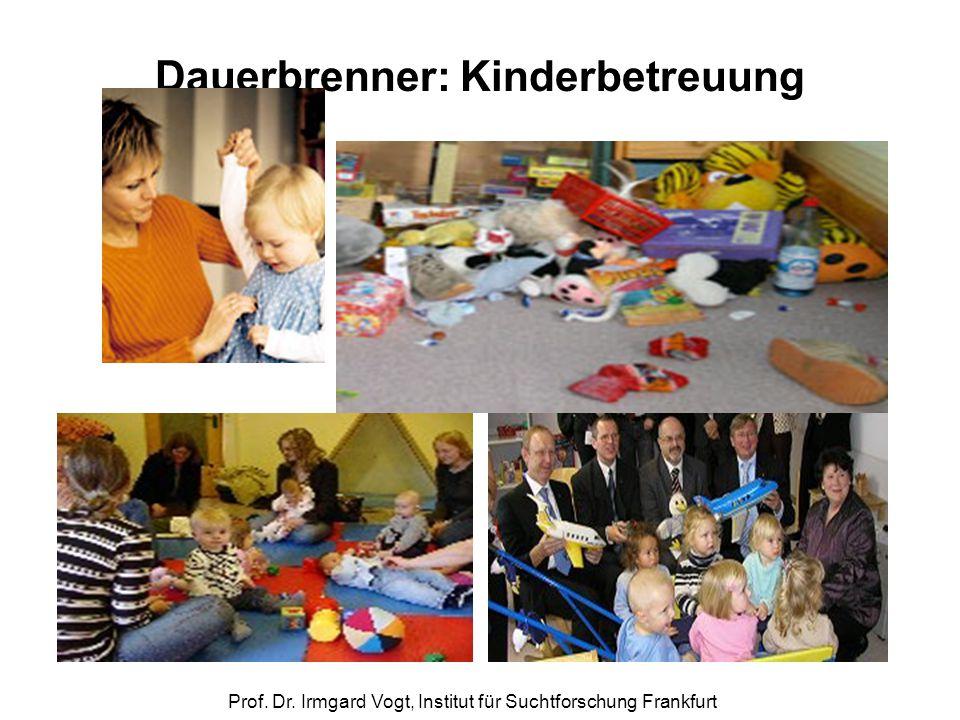 Prof. Dr. Irmgard Vogt, Institut für Suchtforschung Frankfurt Dauerbrenner: Kinderbetreuung