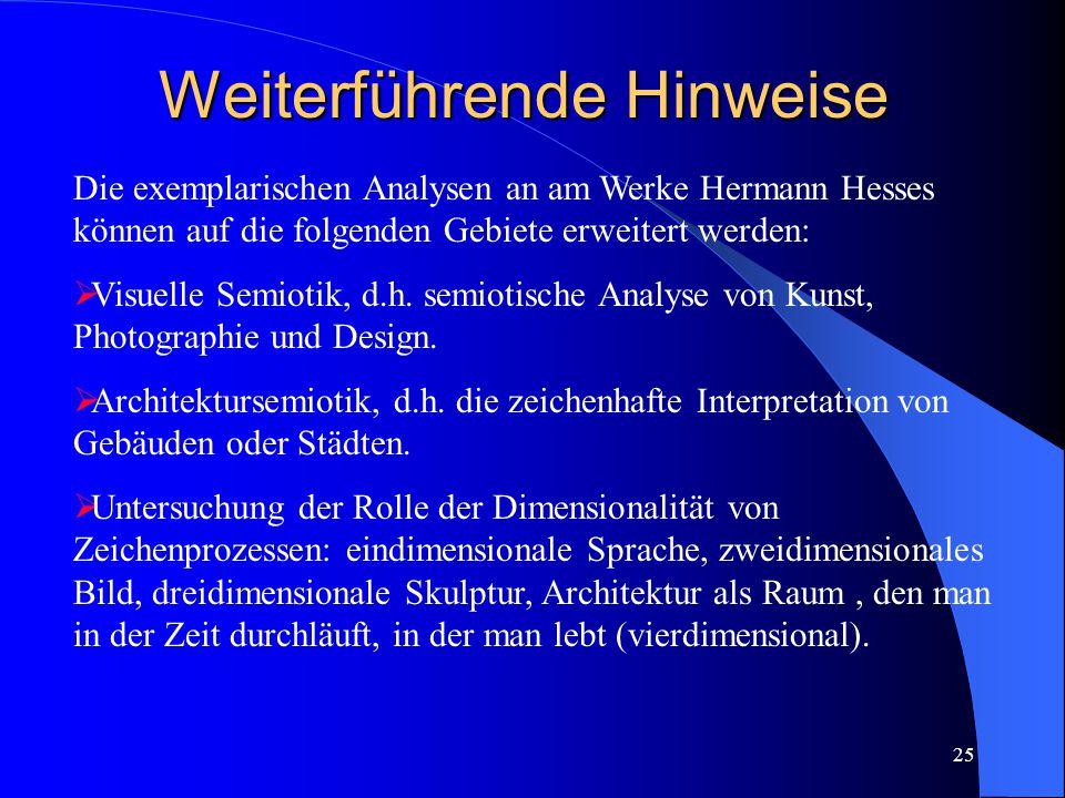 24 Hypothese 6: Abstrakte Sinnzusammenhänge können sowohl in symbolhaften, allegorischen Bildern als auch in Texten, z.B.