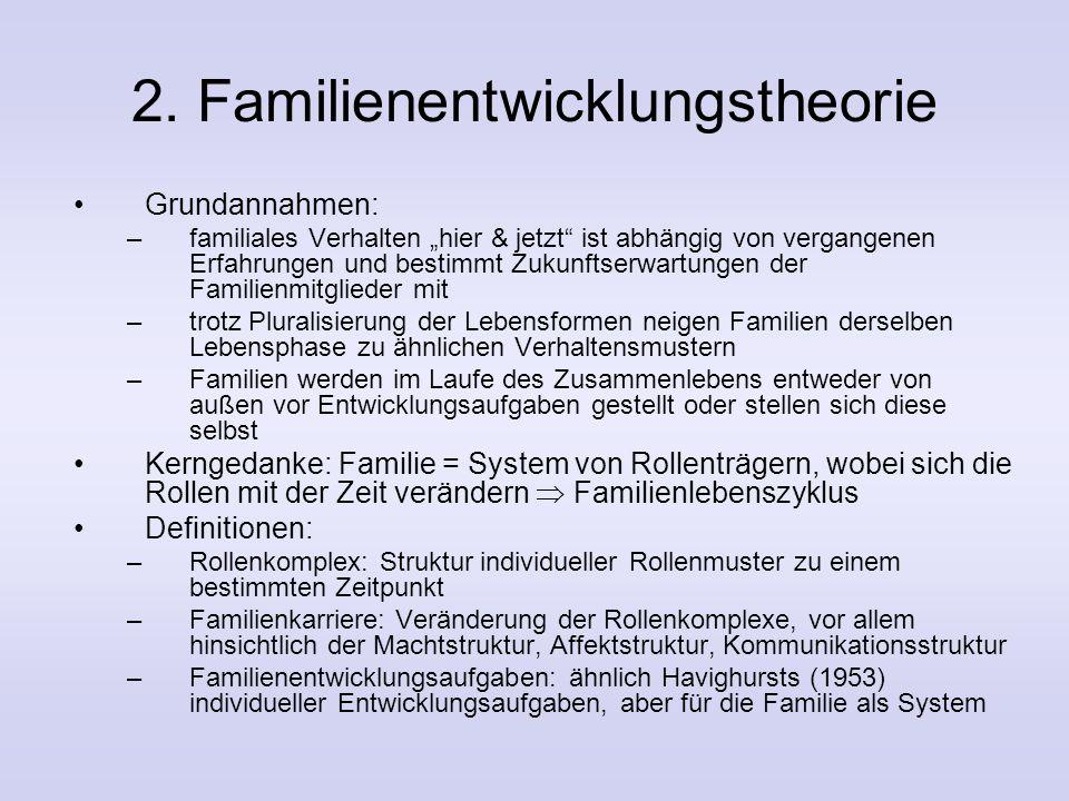 Merkmale des Familiensystems (2) Grenzen nach außen und zwischen Subsystemen und Personen Aber auch Beziehungen, z. B. Spill-Over von Eheproblemen auf
