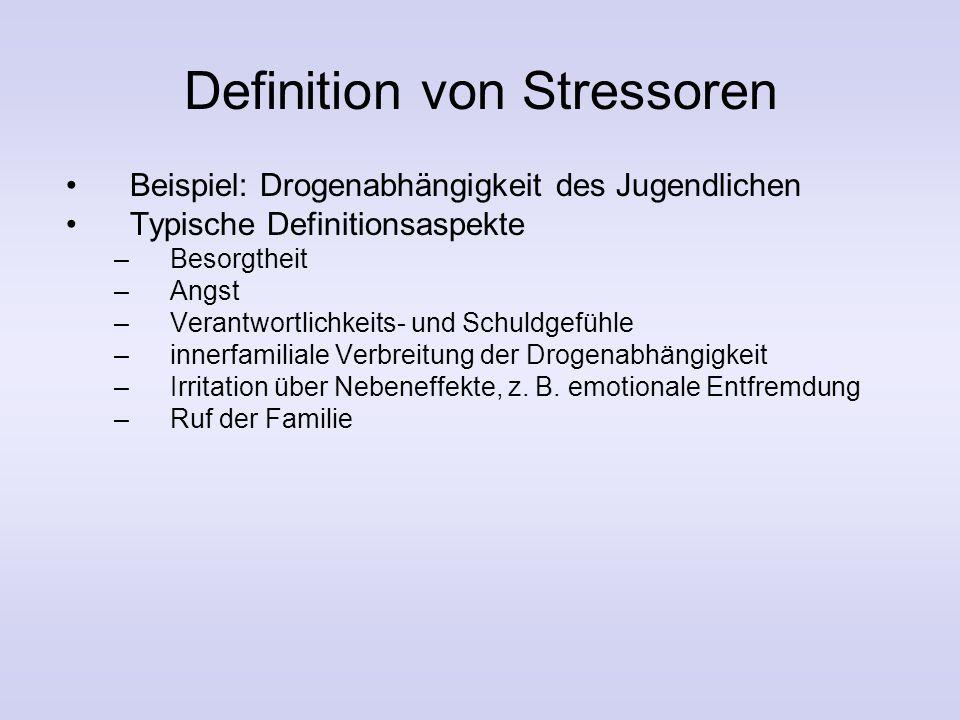 Doppeltes ABCX-Modell Stressor Kumulation von Stressoren Bestehende Ressourcen Wahrnehmung des Stressors Krise BewältigungBestehende und neue Ressourc