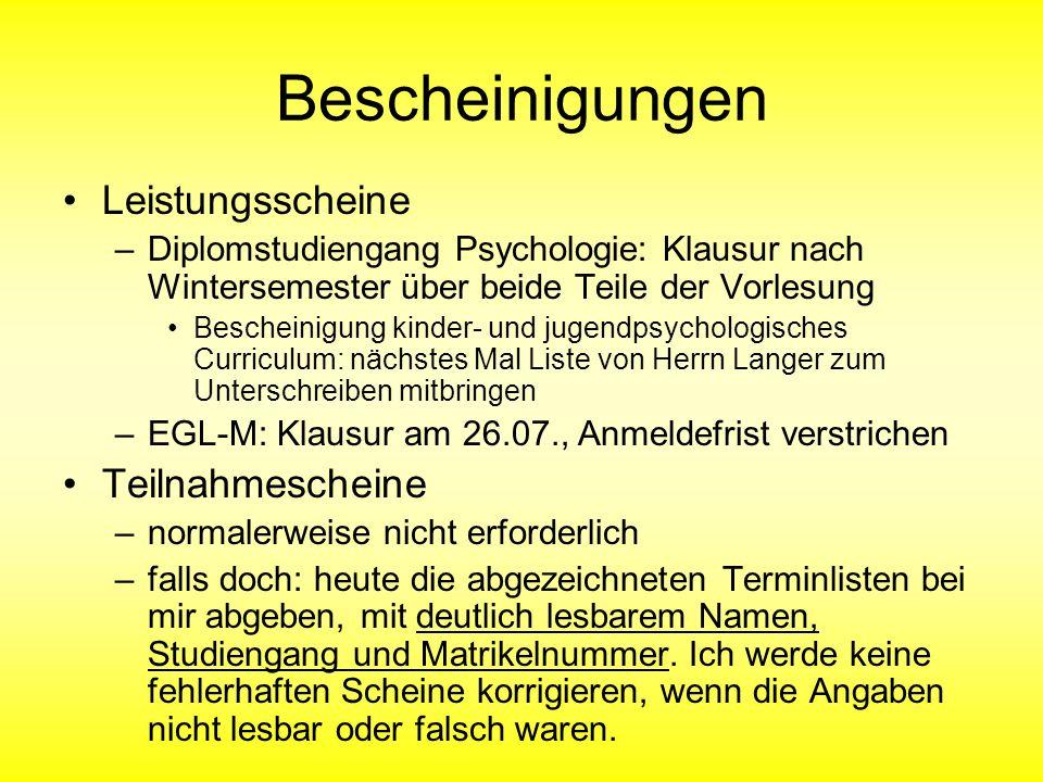 Vorlesung Entwicklungspsychologie I Familienentwicklung J. Gowert Masche 12.07.2006