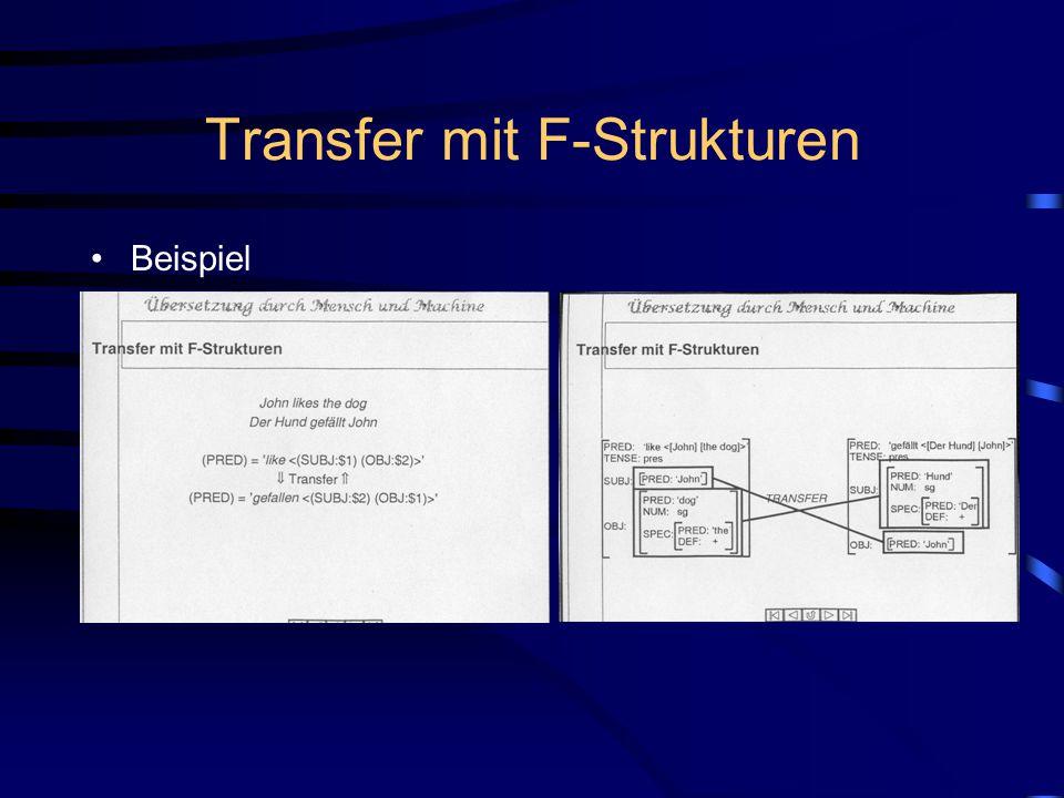 Transfer mit F-Strukturen Beispiel