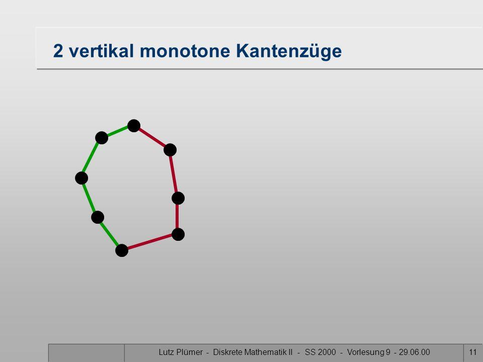 Lutz Plümer - Diskrete Mathematik II - SS 2000 - Vorlesung 9 - 29.06.0010 Extrempunkte