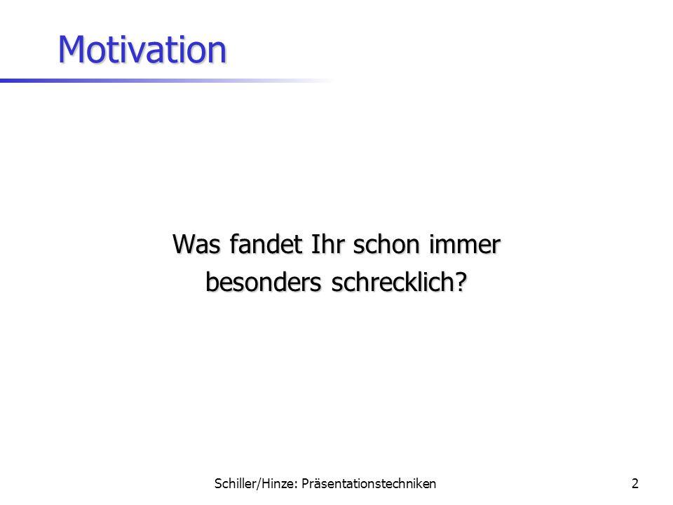 Schiller/Hinze: Präsentationstechniken1 Professionelle PräsentatorInnen präsentieren praxisnahe Präsentationstipps Jochen Schiller Annika Hinze 22.Jan