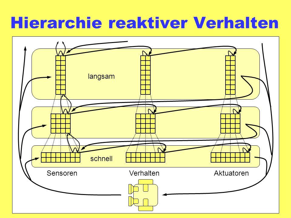 Hierarchie reaktiver Verhalten schnell langsam SensorenVerhaltenAktuatoren