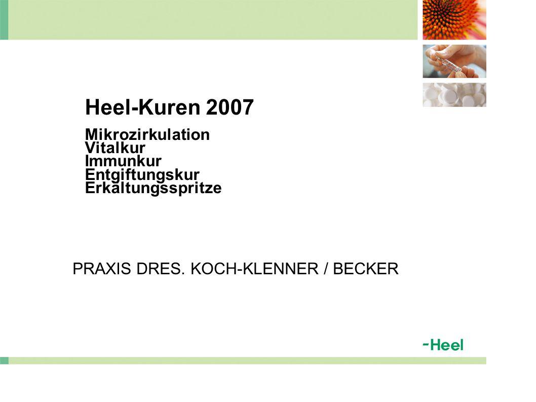 Heel-Kuren 2007 Mikrozirkulation Vitalkur Immunkur Entgiftungskur Erkältungsspritze PRAXIS DRES.
