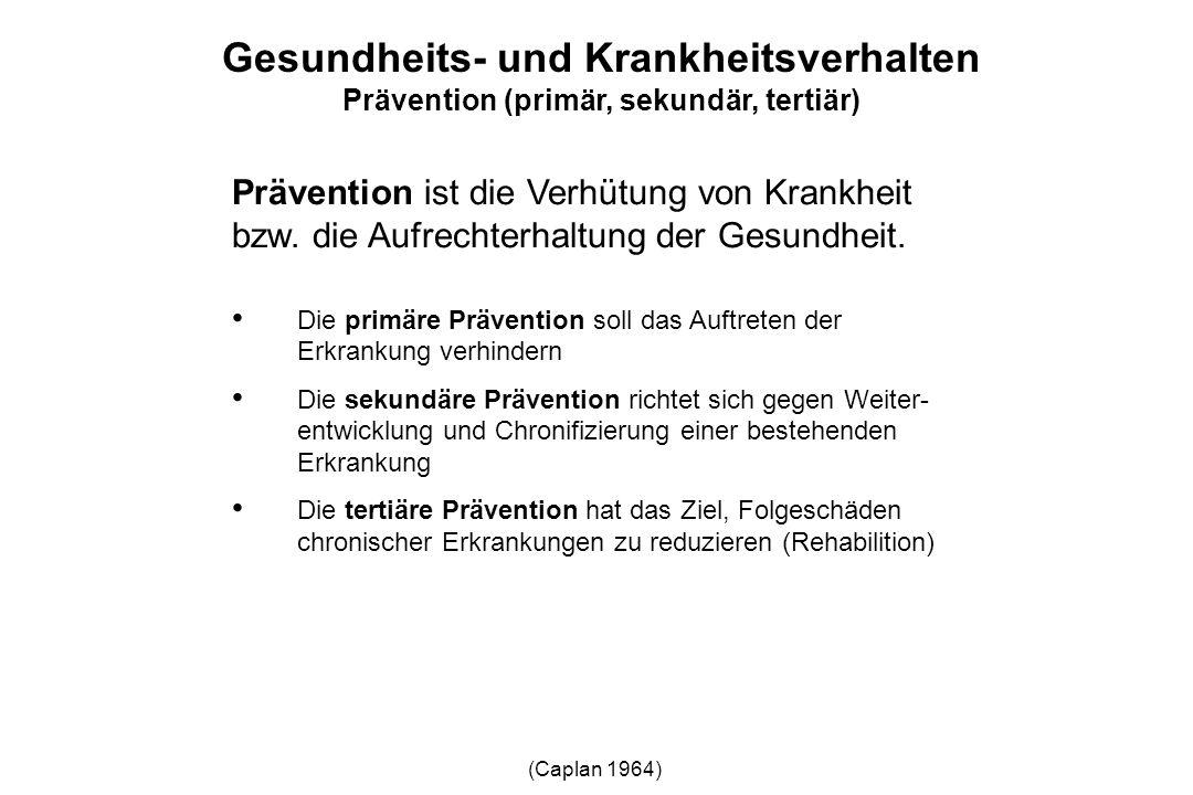 Prävention ist die Verhütung von Krankheit bzw. die Aufrechterhaltung der Gesundheit. Die primäre Prävention soll das Auftreten der Erkrankung verhind
