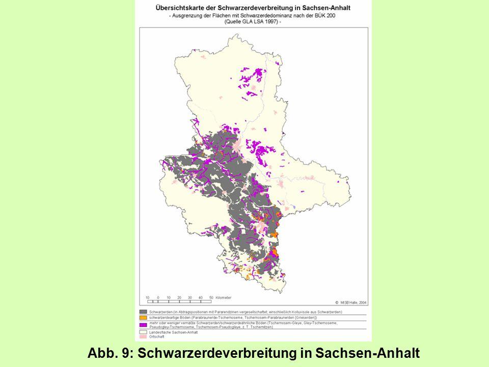 Abb. 9: Schwarzerdeverbreitung in Sachsen-Anhalt