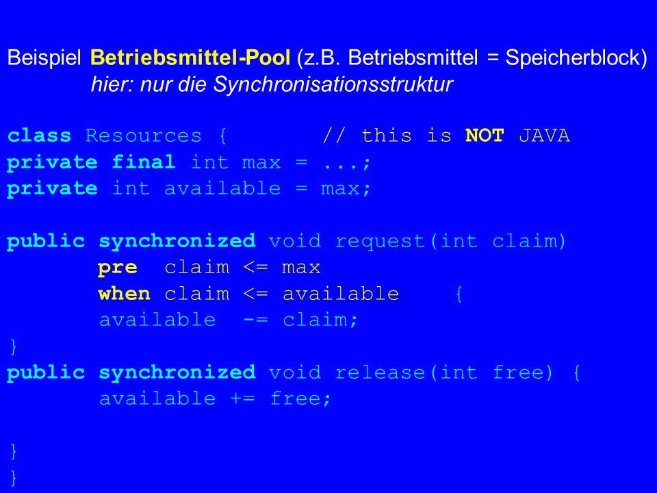 Beispiel Betriebsmittel-Pool (z.B.