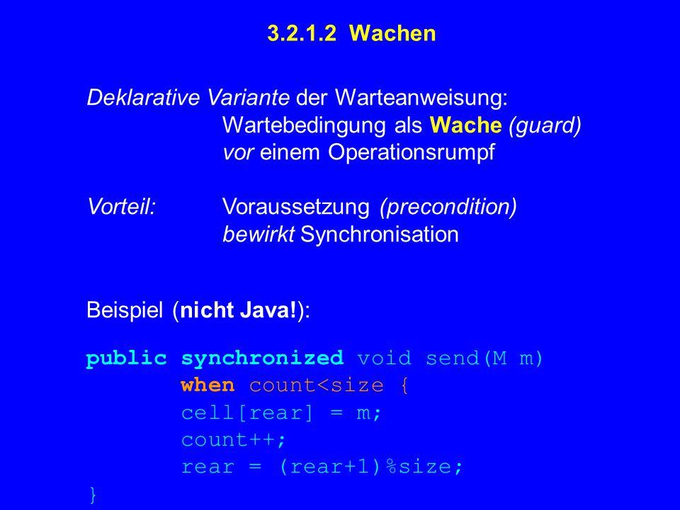 Effiziente Übersetzung von await/when ist schwierig .