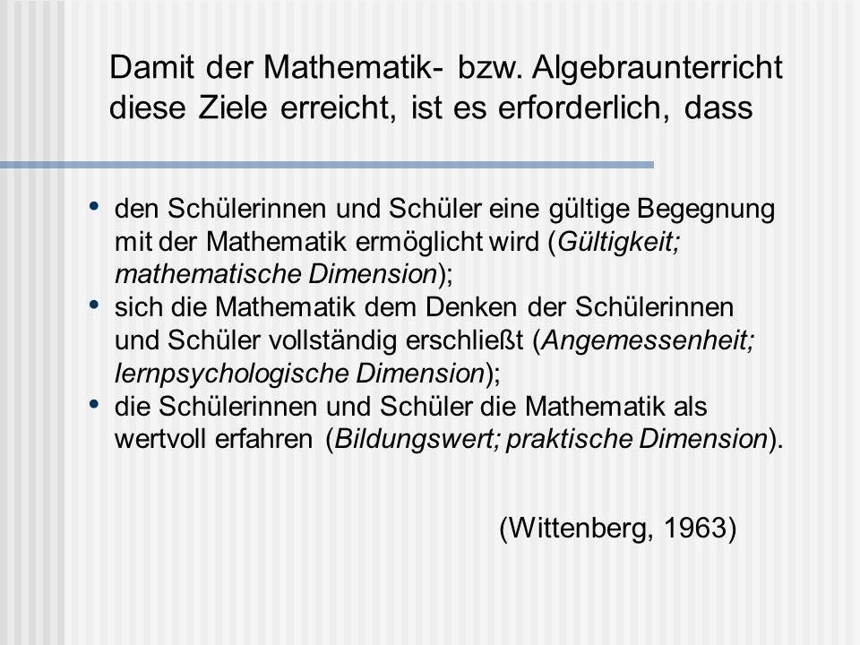 Damit der Mathematik- bzw.
