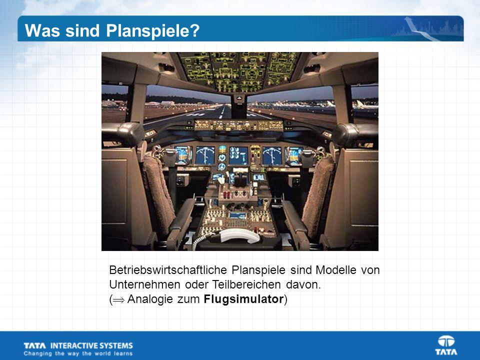 Betriebswirtschaftliche Planspiele sind Modelle von Unternehmen oder Teilbereichen davon.