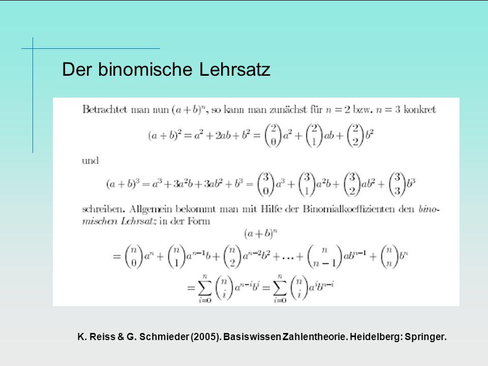 Der binomische Lehrsatz