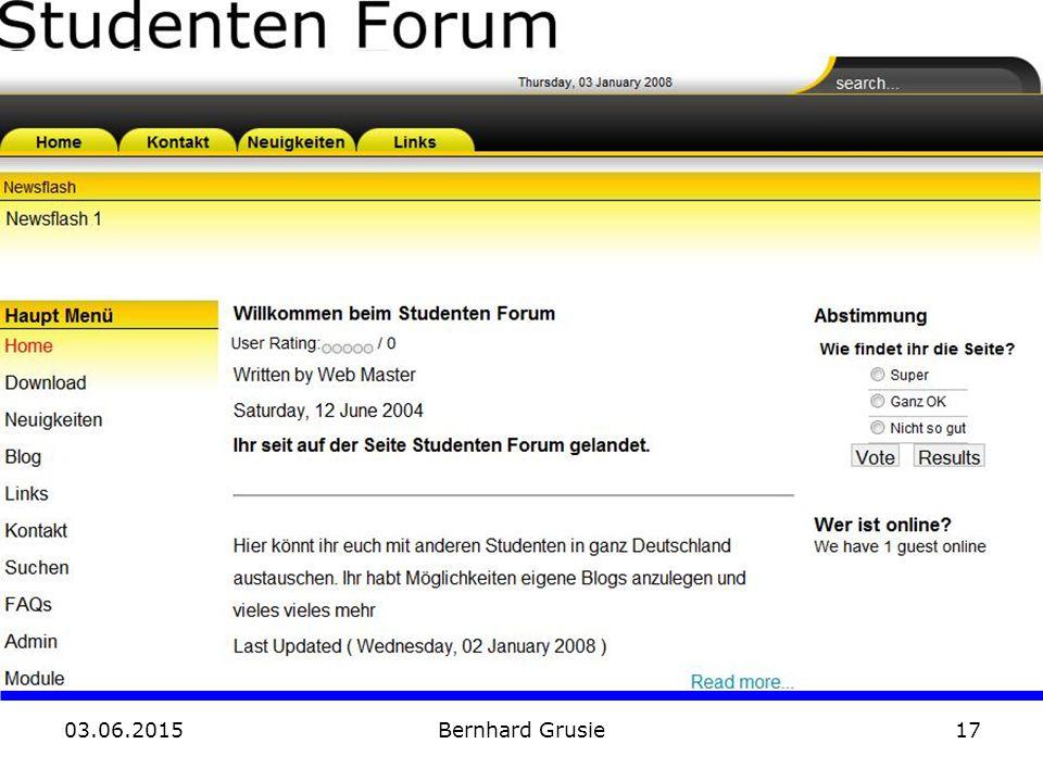 03.06.2015 Bernhard Grusie17 Demo