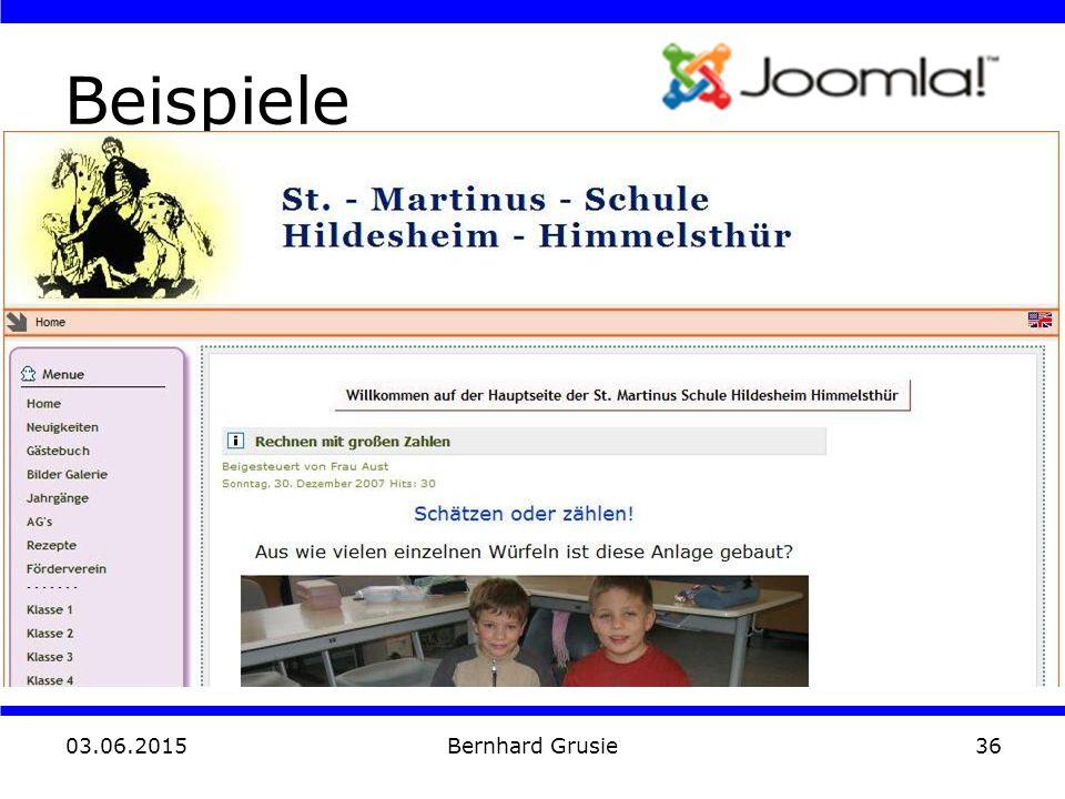 03.06.2015 Bernhard Grusie36 Beispiele