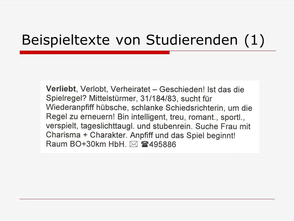 Beispieltexte von Studierenden (1)