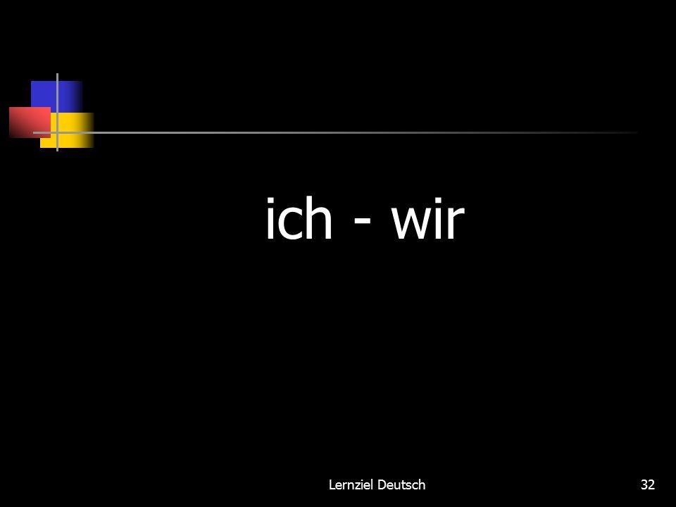 Lernziel Deutsch32 ich - wir