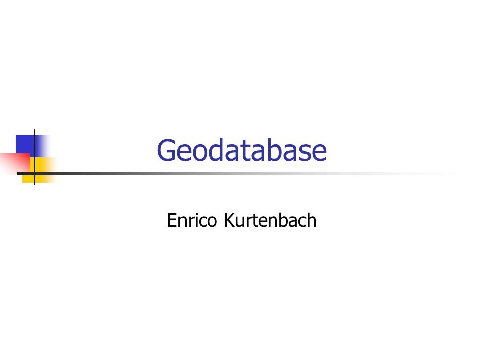 Geodatabase Enrico Kurtenbach