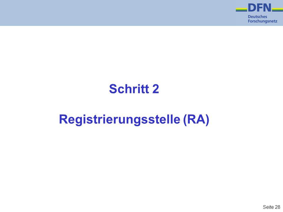 Seite 28 Schritt 2 Registrierungsstelle (RA)