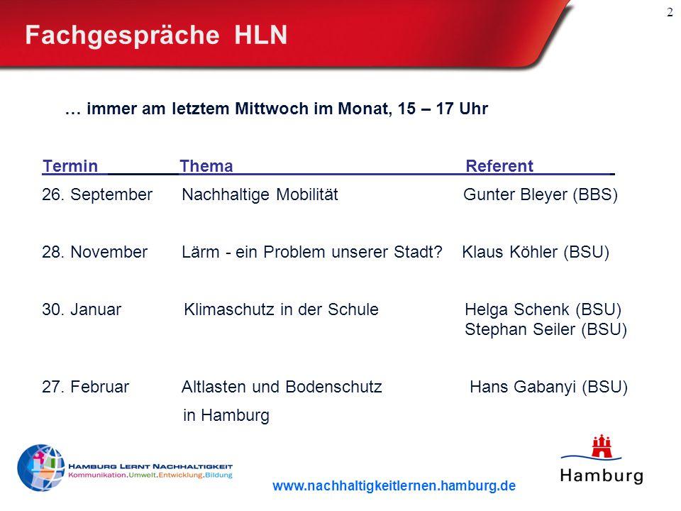 2 Fachgespräche HLN … immer am letztem Mittwoch im Monat, 15 – 17 Uhr Termin Thema Referent.