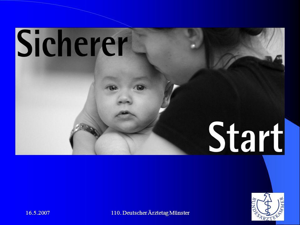 16.5.2007110. Deutscher Ärztetag Münster Sicherer Start