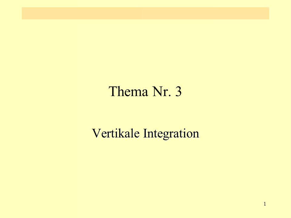 1 Thema Nr. 3 Vertikale Integration