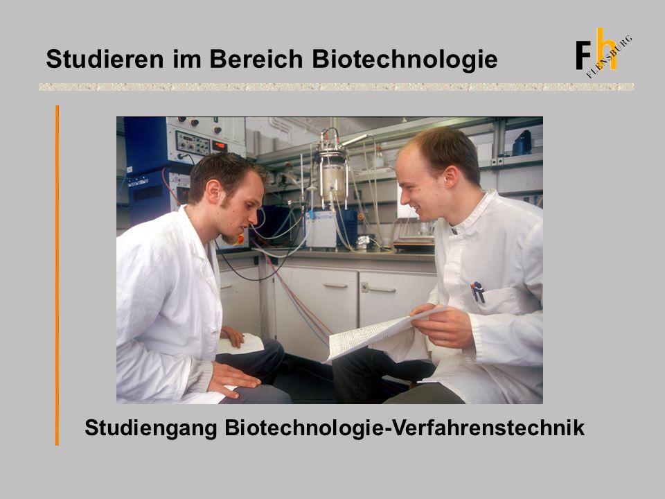 Studieren im Bereich Biotechnologie Studiengang Biotechnologie-Verfahrenstechnik