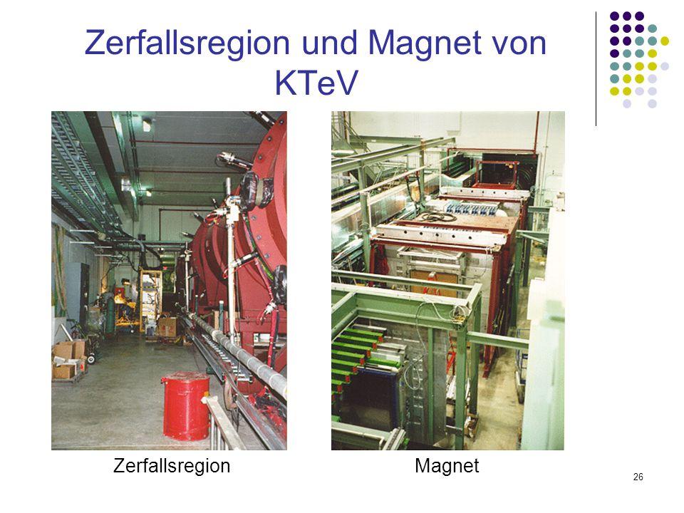 26 Zerfallsregion und Magnet von KTeV ZerfallsregionMagnet