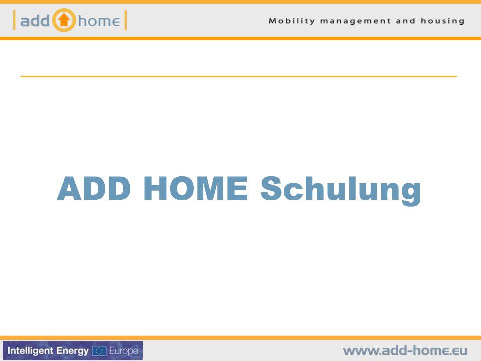 ADD HOME Schulung