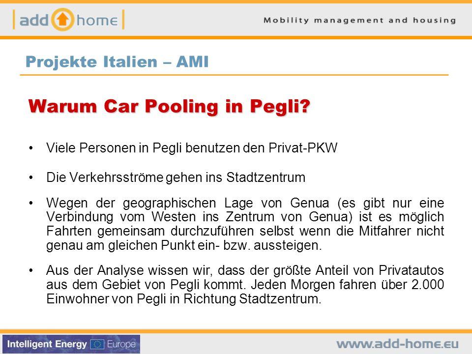 Warum Car Pooling in Pegli.