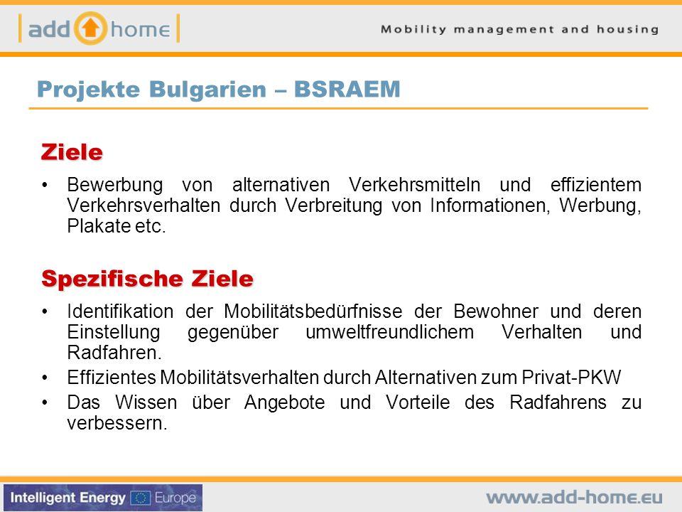 Ziele Bewerbung von alternativen Verkehrsmitteln und effizientem Verkehrsverhalten durch Verbreitung von Informationen, Werbung, Plakate etc.