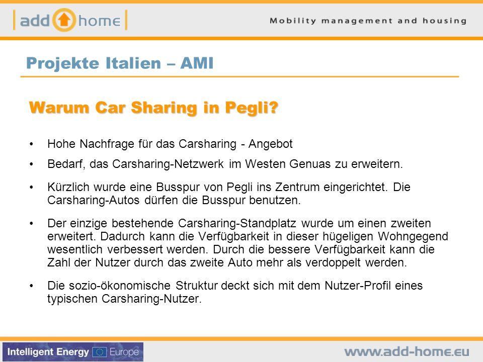 Car sharing in Genua vor ADD HOME 1851 registrierte Nutzer 88 Autos 49 Standplätze Neue Car Sharing Standplätze Projekte Italien – AMI