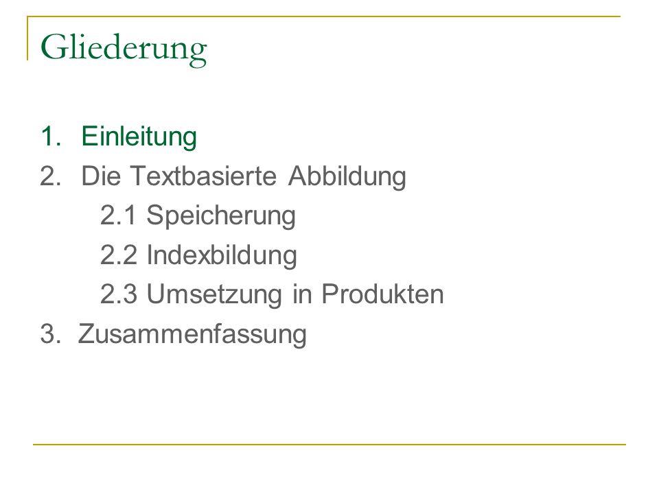 Indexbildung Klassifikation der Indexbildung