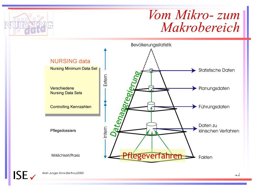 48 Vom Mikro- zum Makrobereich Datenaggregierung Pflegeverfahren