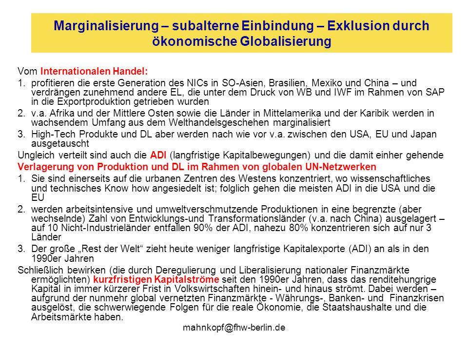 """mahnkopf@fhw-berlin.de …und einige Erläuterungen (4) Je """"unsichtbarer Migranten sind – je weniger sie über gültige Papiere verfügen – desto leichter können sie als Lohndrücker und """"Sklavenarbeiter verwandt werden."""