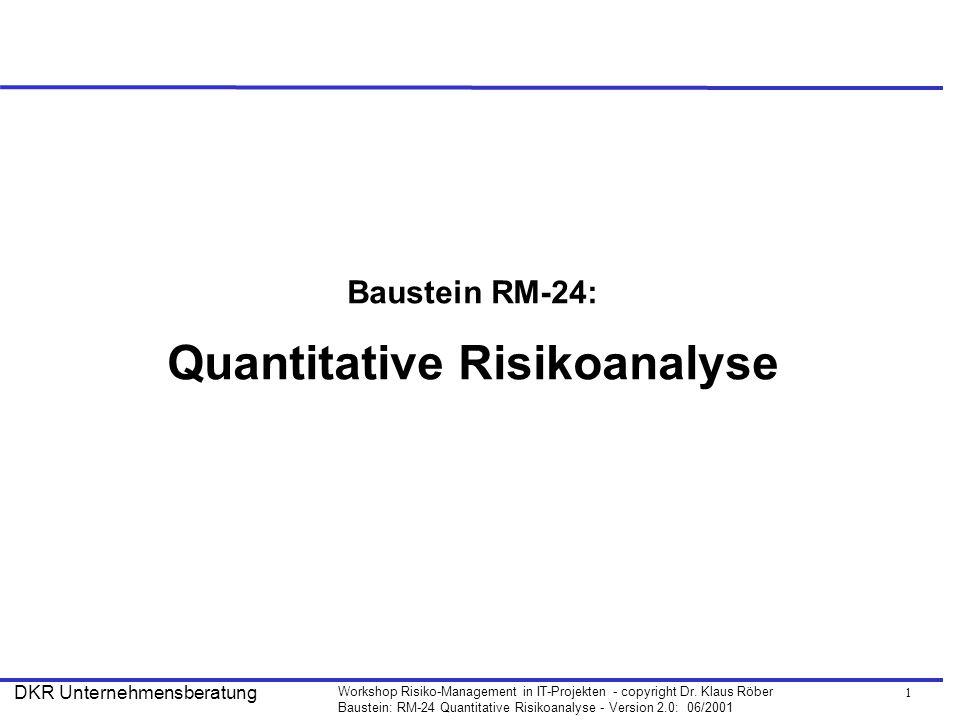 12 Workshop Risiko-Management in IT-Projekten - copyright Dr.