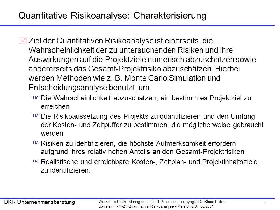 14 Workshop Risiko-Management in IT-Projekten - copyright Dr.