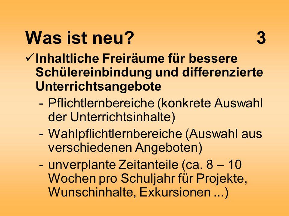 Neuerungen in ausgewählten Fächern6 Technik und Computer (eh.