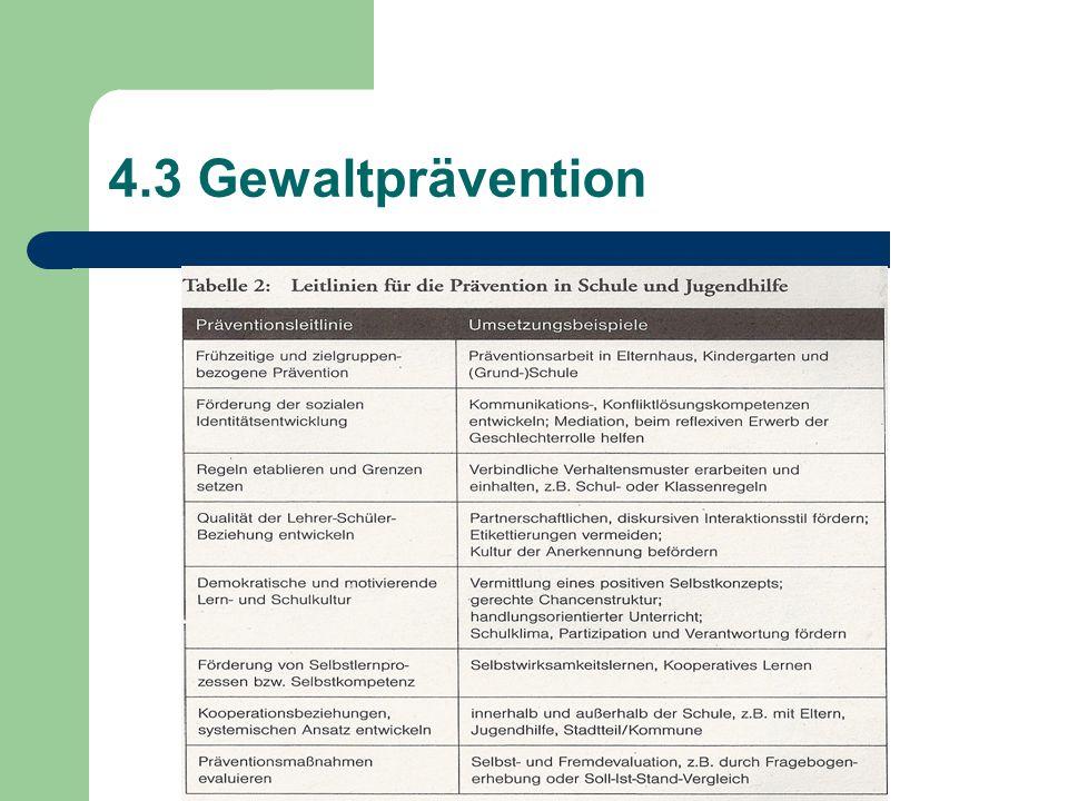 4.3 Gewaltprävention